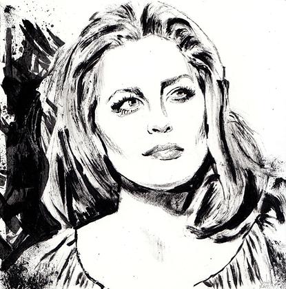 Faye Dunaway original artwork 14x14cm