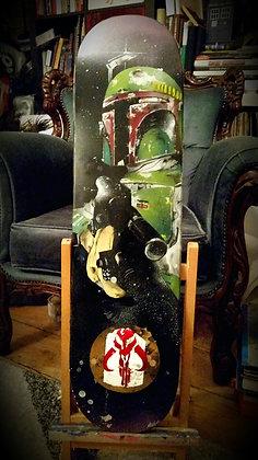 ORIGINAL: Boba Fett skateboard deck.