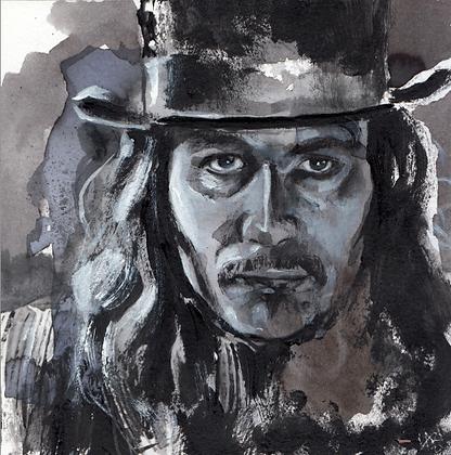 Vlad Dracula 14x14cm original hand-painted artwork