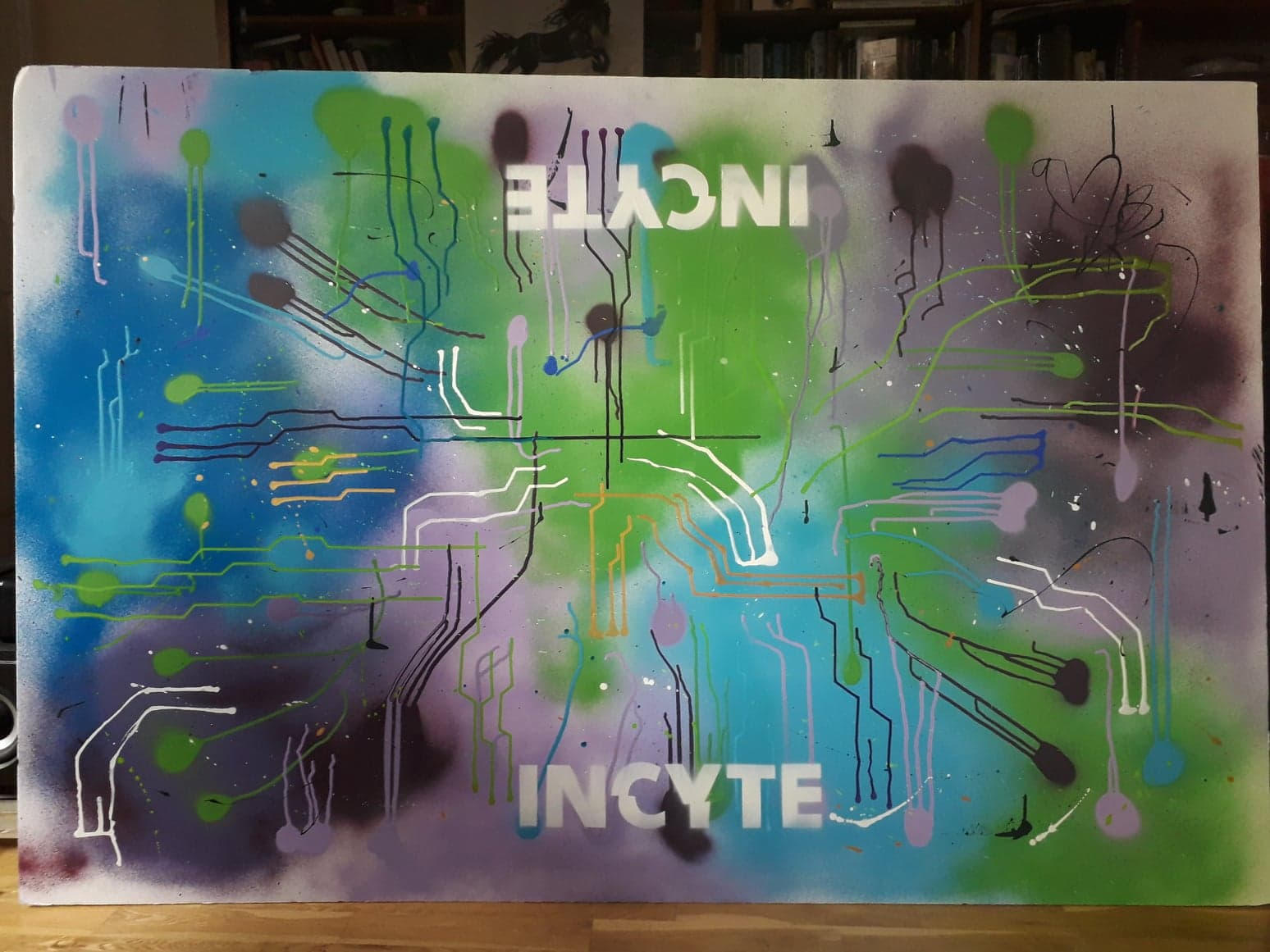 INCYTE event mural