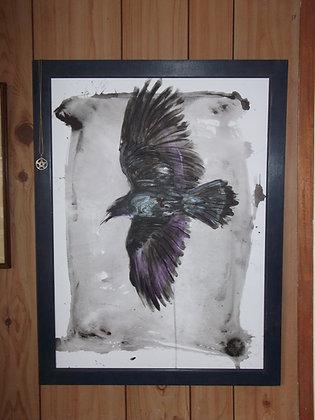 Finger Painted Raven. A1. (59.4 x 84.1 cm)