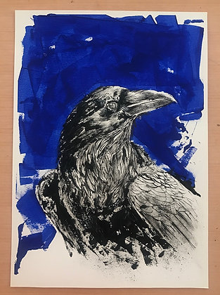HUGINN II Raven ORIGINAL ARTWORK A3 SIZE: 29.7 x 42 cm (11.7x 16.5 inches)