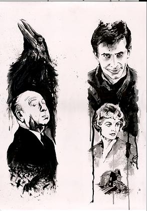 ORIGINAL: Alfred Hitchcock 'Psycho' A1. 59.4 x 84.1 cm