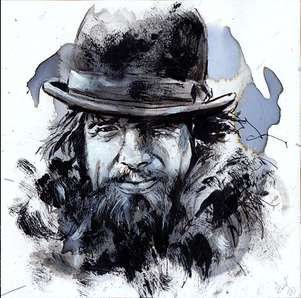 John 'Pudgy' McCabe original artwork 14x14cm