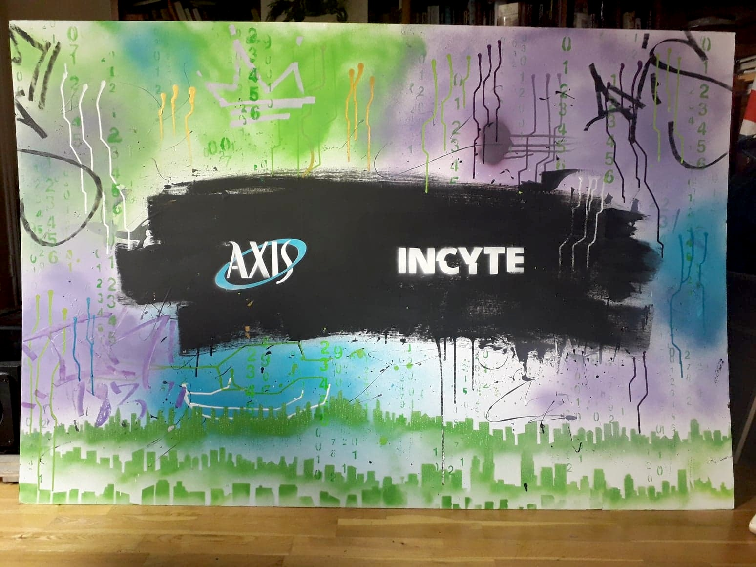 AXIS Cyber Securities event mural