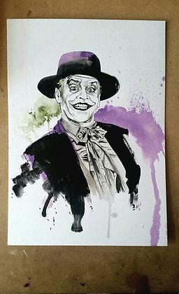 ORIGINAL: 'The Joker'A3. 29.7 x 42 cm (11.7 x 16.5 inches)