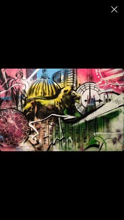 Evening Standard mural