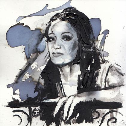 Linda Cristal original artwork 14x14cm