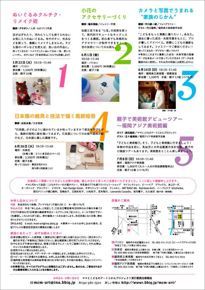 2012年フライヤー裏/A4/オフセット/2012