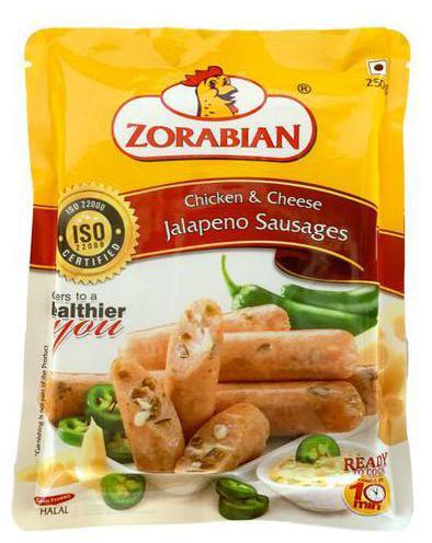 Chicken & Cheese Jalepano Sausage