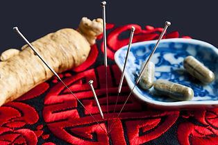 Raw herbs, supplements, and acupuncture needles