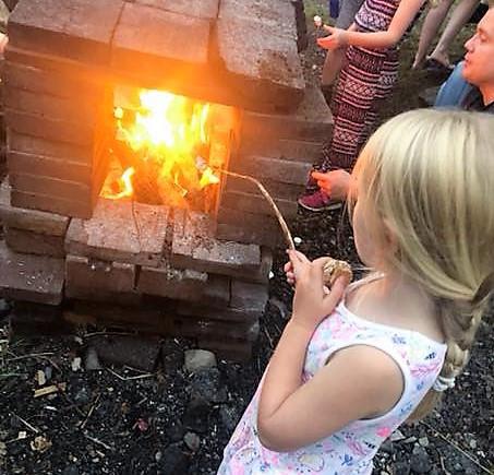 Howgills Barn Toasting Marshmallows