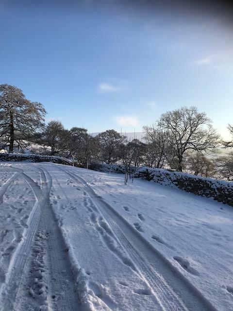 Howgills Barn Lane Winter