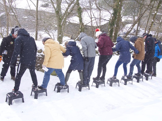 Winter team building Howgills Barn