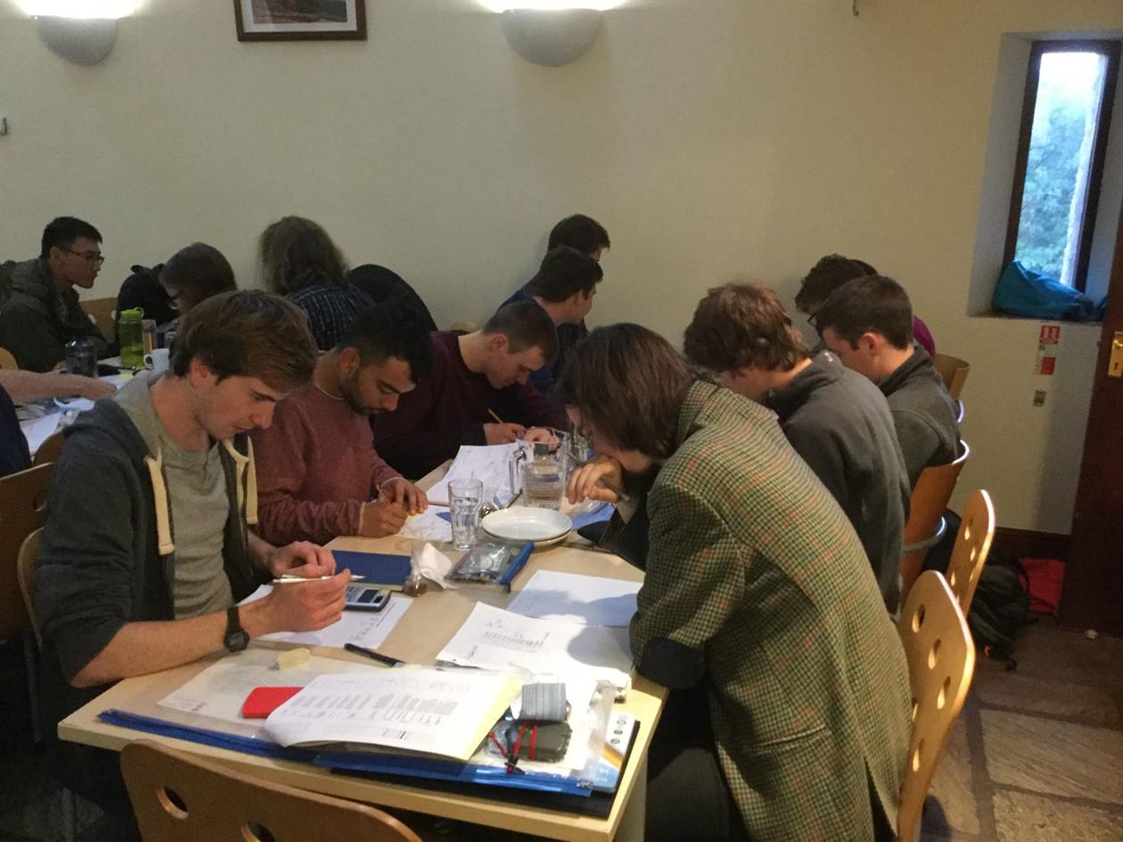 Cambridge uni working hard