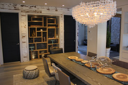 Intricate Dining Room Shelving