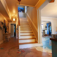 Walk down the stairs right onto the beach!