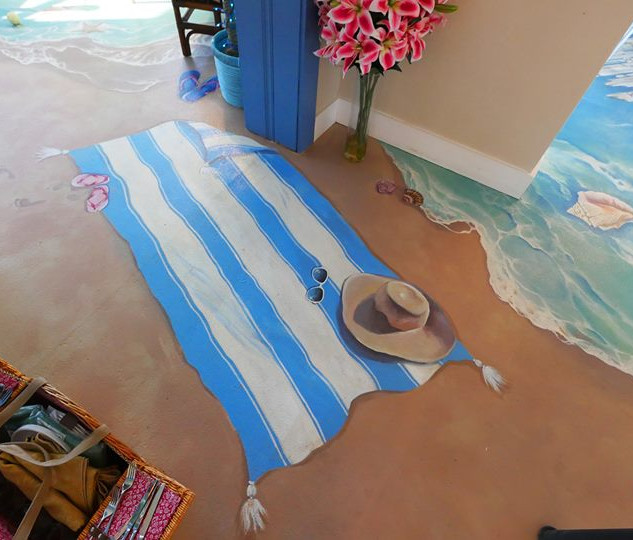 """Can you guess the story behind this mural? You might, if you meet our little """"mermaid""""!"""