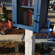 """Have you checked out our """"Little Free Library""""?"""