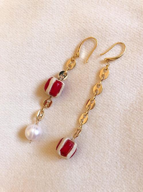 Boucles Cadeaux rouges