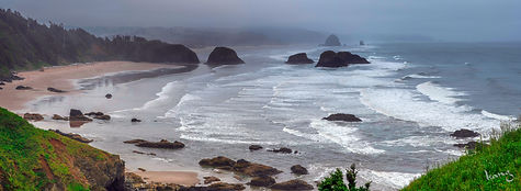 Ecola State park Cannon beach Pano #1_ed