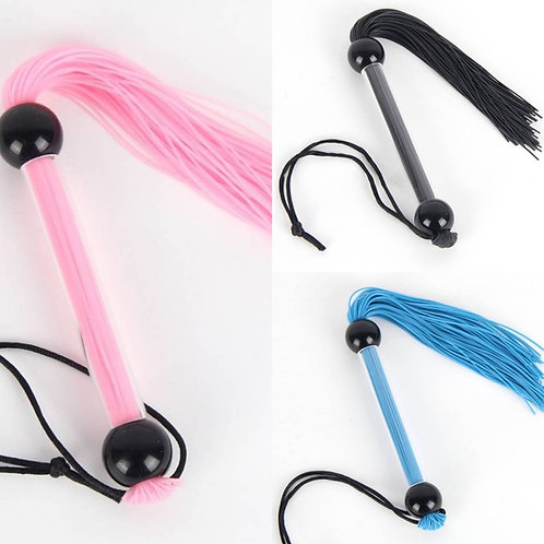 FUN TIMES Colourful Flogger - Black / Pink or Blue
