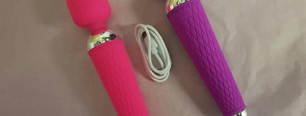 VIXEN Luxury Waterproof Silicone Rechargeable Vibrating WAND Massager