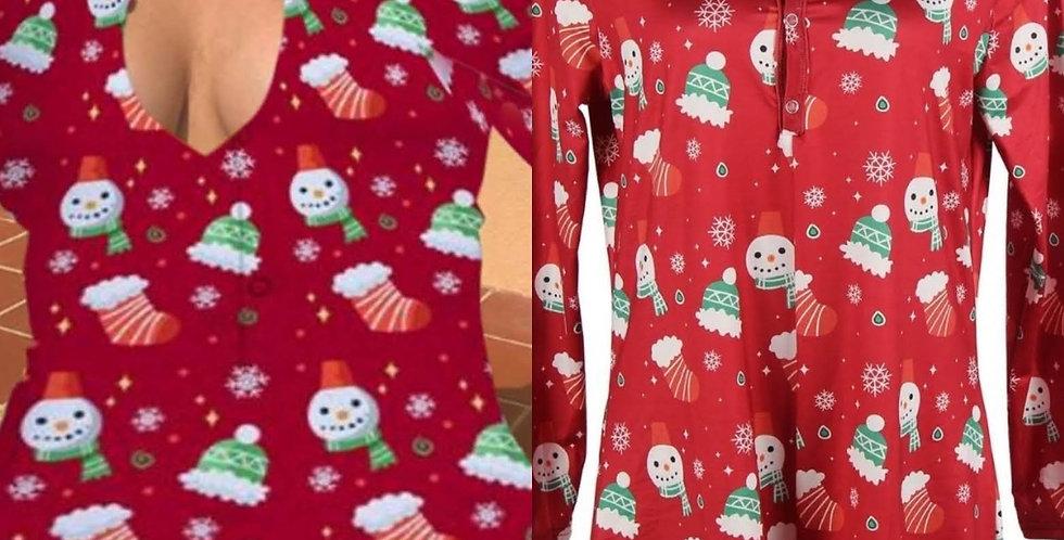 LET IT SNOW ROMPER Loungewear PJ Playsuit Sexy Romper