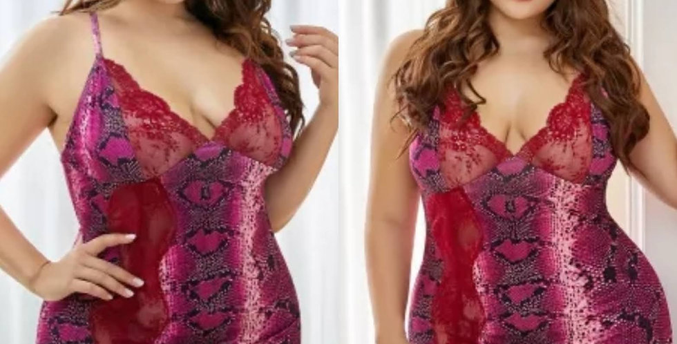 MONROE Colourful Print Lace Chemise Size 16 - 30