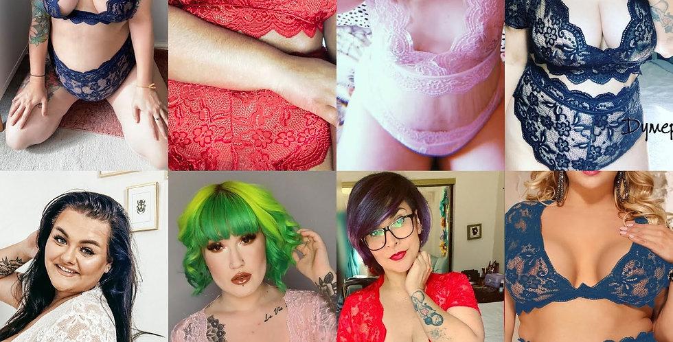Sexy SIREN 2 Piece Lace Bralette / Highwaisted Knicker Set ~ 6 Colours