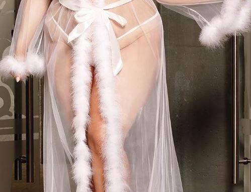 Queenie Sheer WHITE luxury Robe