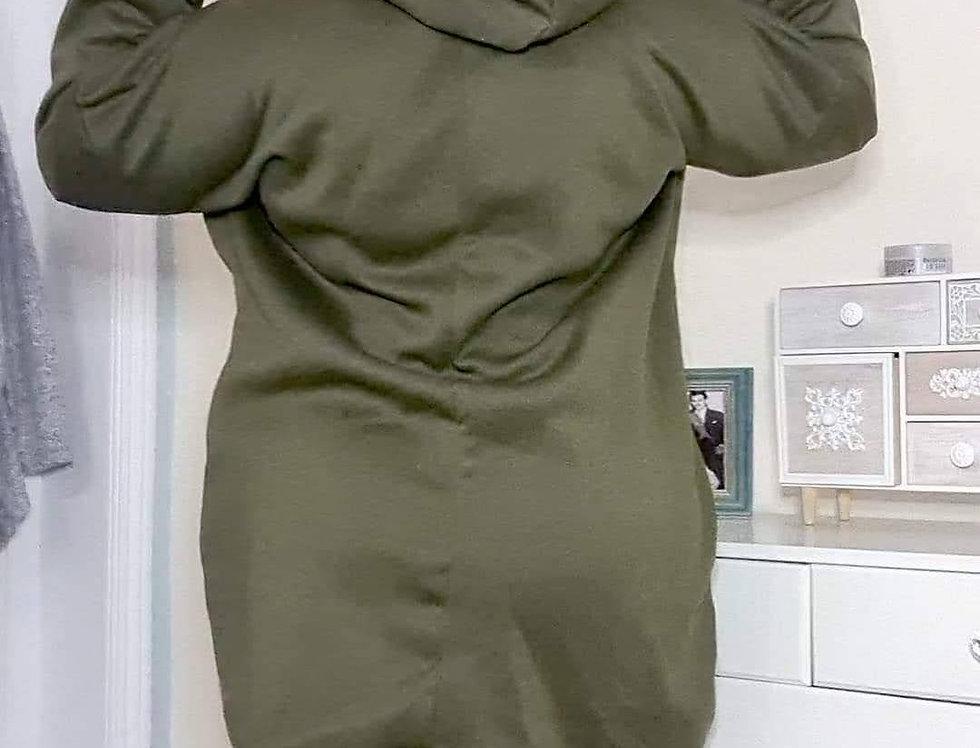 Gorgeous NEW KIM KHAKI Oversized Hoodie Dress Sz 16 - 24