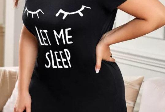 LET ME SLEEP Loungewear Nightshirt (Size 14-30)
