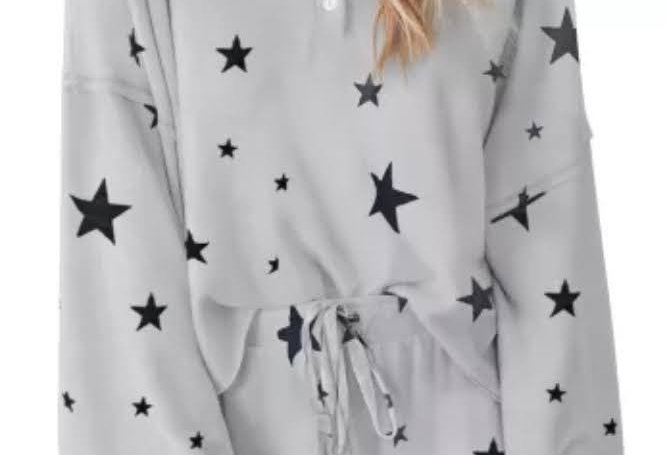 REACH FOR THE STARS 2 Piece Shorts & Oversized Top Lounge / PJ Shorts Set
