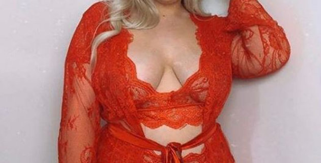 SCARLETT Red Lace Robe & Thong