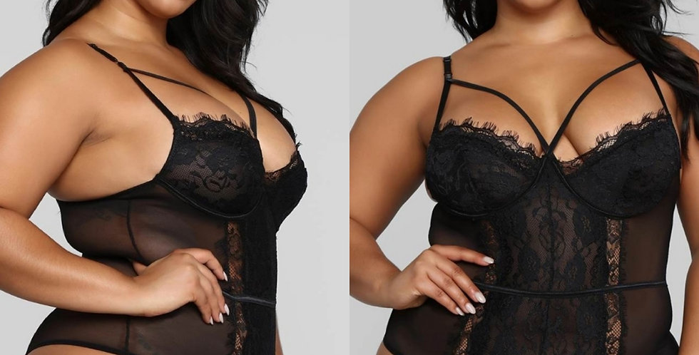 Sugar & Spice Strap Detail Bodysuit.. Available in Black, White, Pink & Red