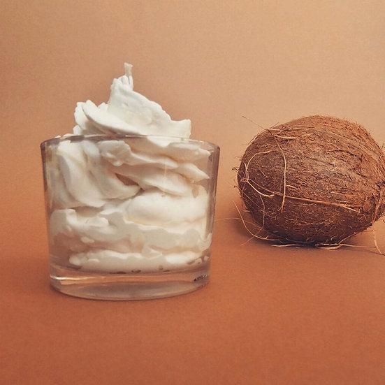 Bougie chantilly Verrine noix de coco
