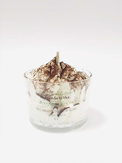 Bougie chantilly Verrine vanille sucrée chocolat