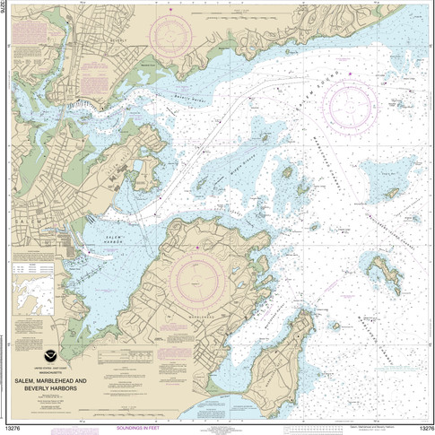 13276: Salem, Marblehead and Beverly Harbors