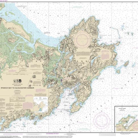 13279: Ipswich Bay to Gloucester Harbor; Rockport Harbor