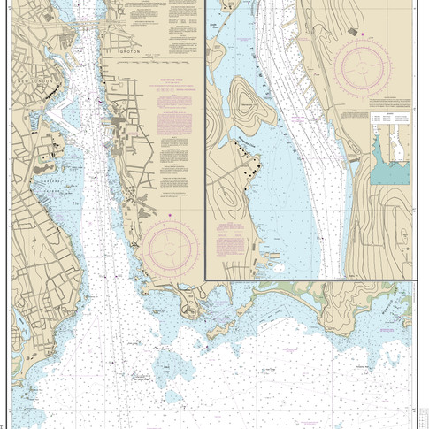 13213: New London Harbor and Vicinity; Bailey Point to Smith Cove