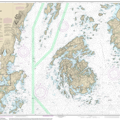 13305: Penobscot Bay; Carvers Harbor and Approaches