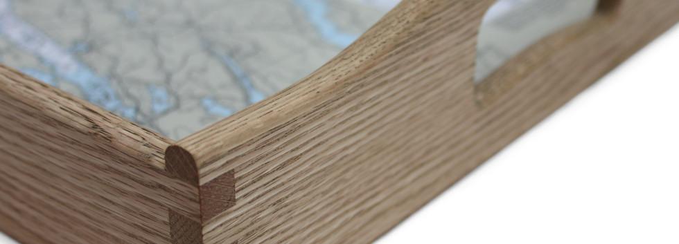 Serving Tray; Wood Handles