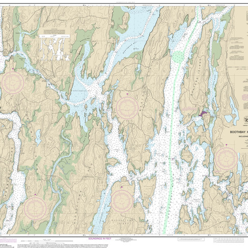 13296: Boothbay Harbor to Bath, Including Kennebec River