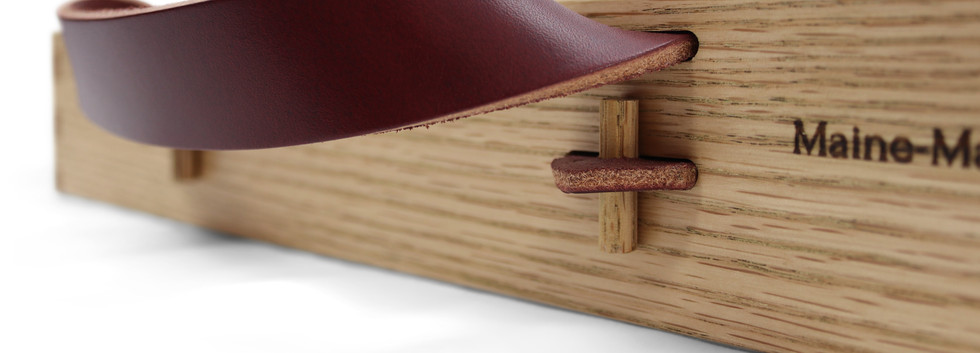 Serving Tray; Leather Handles