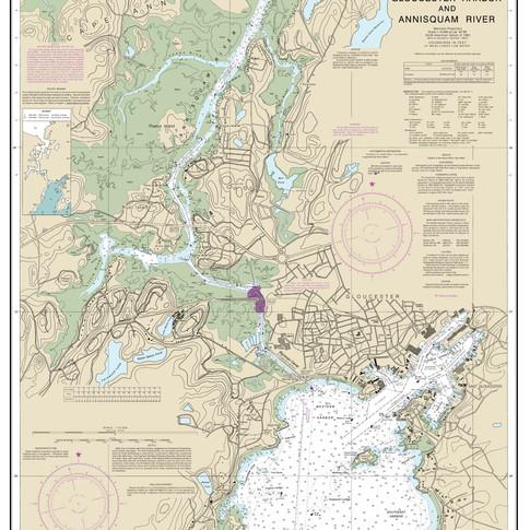 13281: Gloucester Harbor; Annisquam River