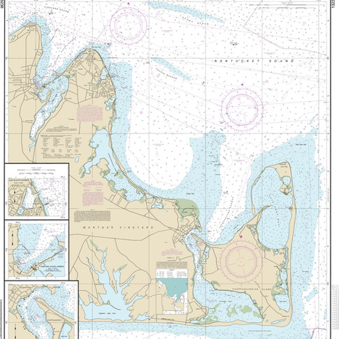 13238: Martha's Vineyard; Oak Bluffs Harbor; Vineyard Haven Harbor; Edgartown Harbor