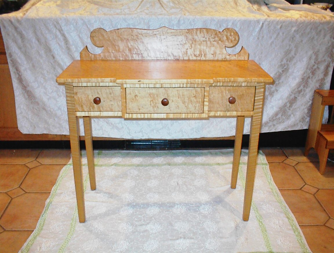 Birds Eye Maple Desk