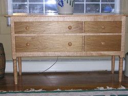 Tiger Maple/Butternut Shaker Dresser