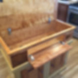 Red Curly Birch Dry Sink